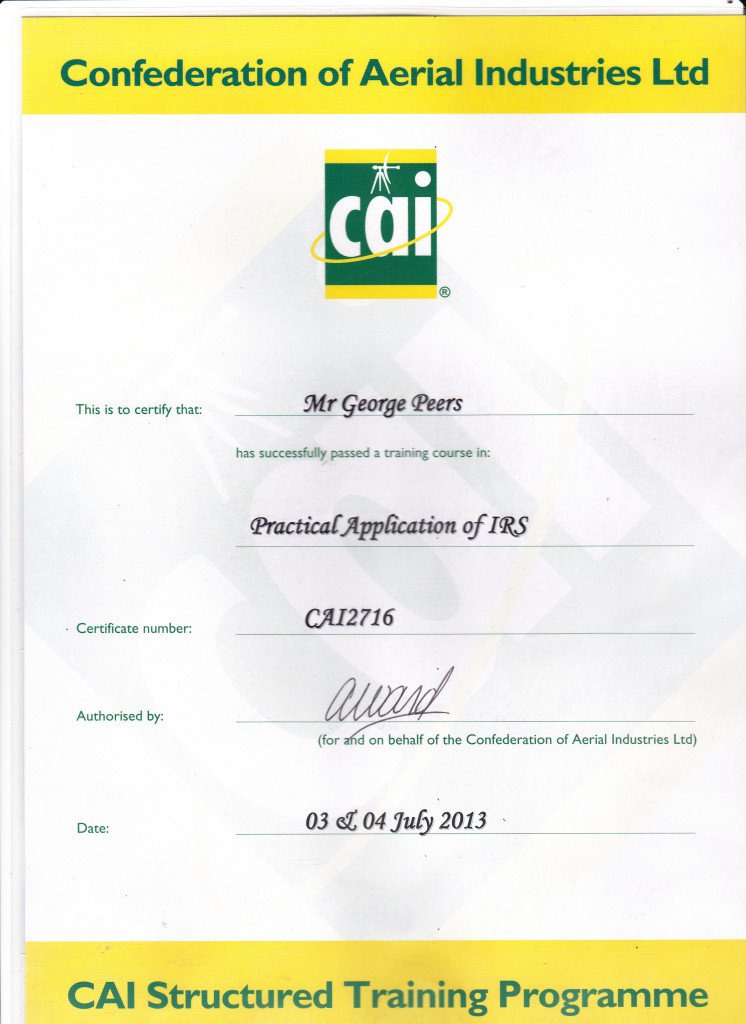 CAI Certification